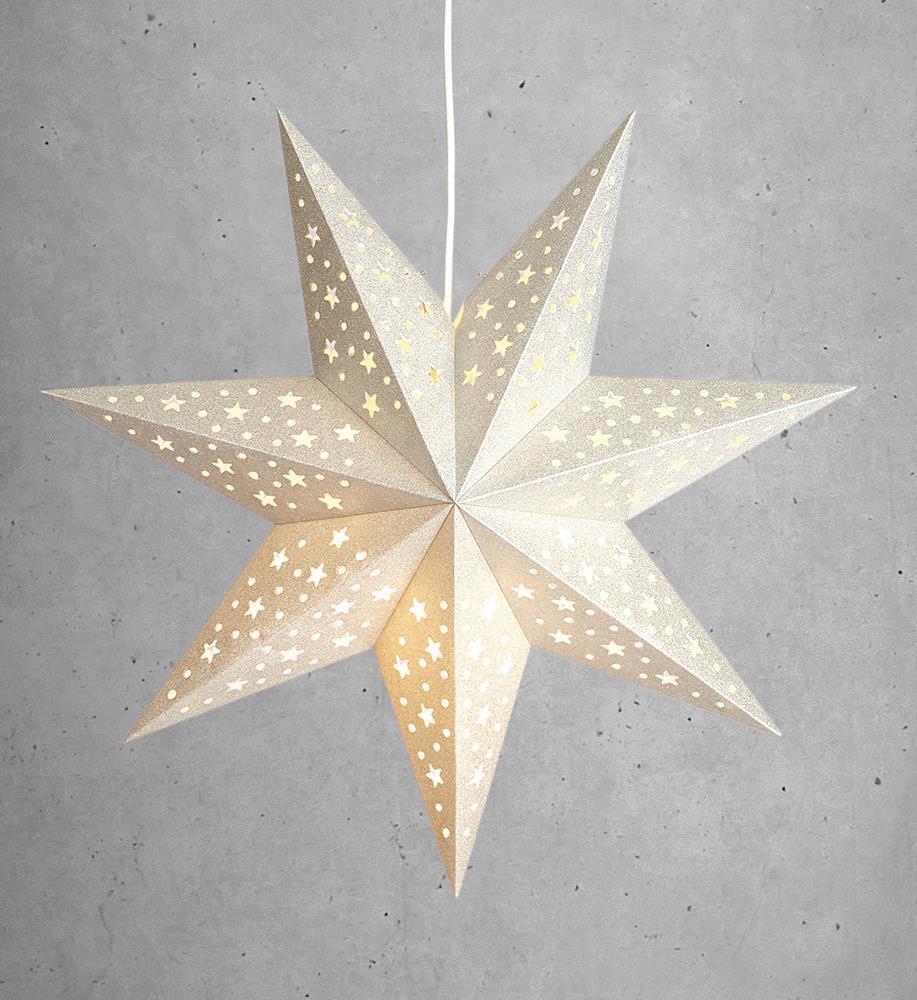 SOLVALLA přívěsek hvězdný papír stříbrný