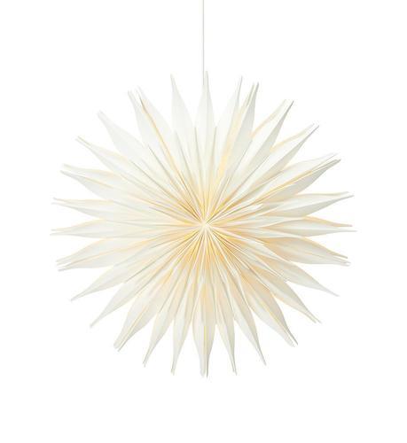 Lovisa papírová hvězda 60cm bílá