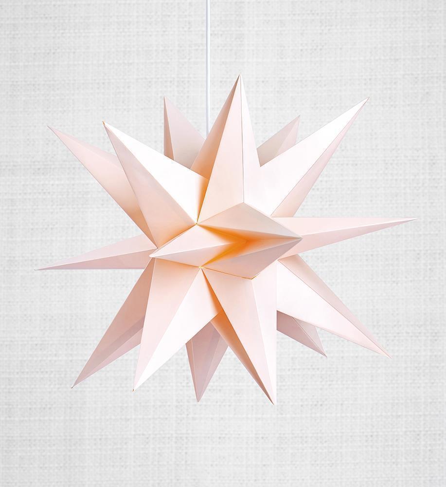 Skillinge 3D paper star Pink