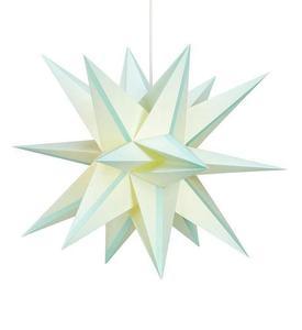 Skillinge 3D papírová hvězda přívěsek Lightblue small 1