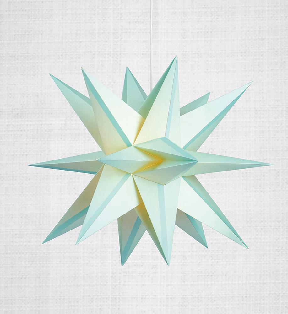 Skillinge 3D papírová hvězda přívěsek Lightblue