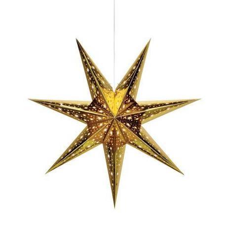 Papírová hvězda NANNA 75 cm zlatá