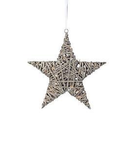 BODANE přívěsek Star Deco 40 cm šedý small 1