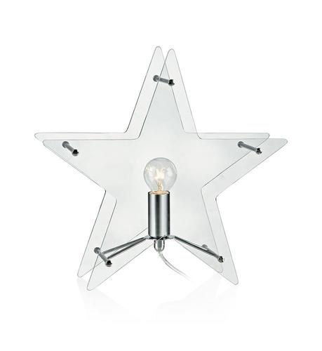 KLANG Tabledeco Glass Star E14 Clear