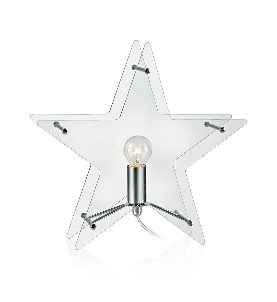KLANG Tabledeco Glass Star E14 Clear