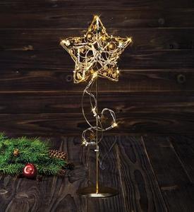 Stolní dekorace HAGABERG 45cm zlato small 0