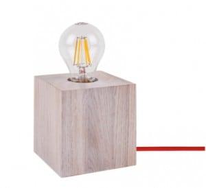 Stolní lampa Trongo bělený dub různé barvy kabelu E27 60W small 1