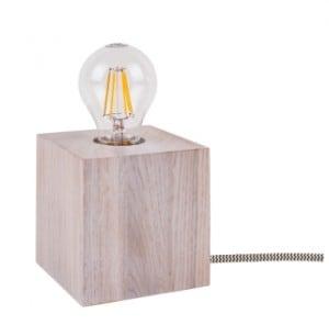 Stolní lampa Trongo bělený dub různé barvy kabelu E27 60W small 2