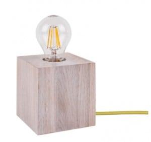 Stolní lampa Trongo bělený dub různé barvy kabelu E27 60W small 4