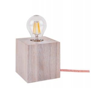 Stolní lampa Trongo bělený dub různé barvy kabelu E27 60W small 5