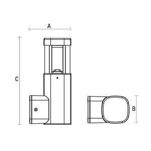 Torre Led 230 V 7 W Ip54 Ww Montáž na zeď small 1