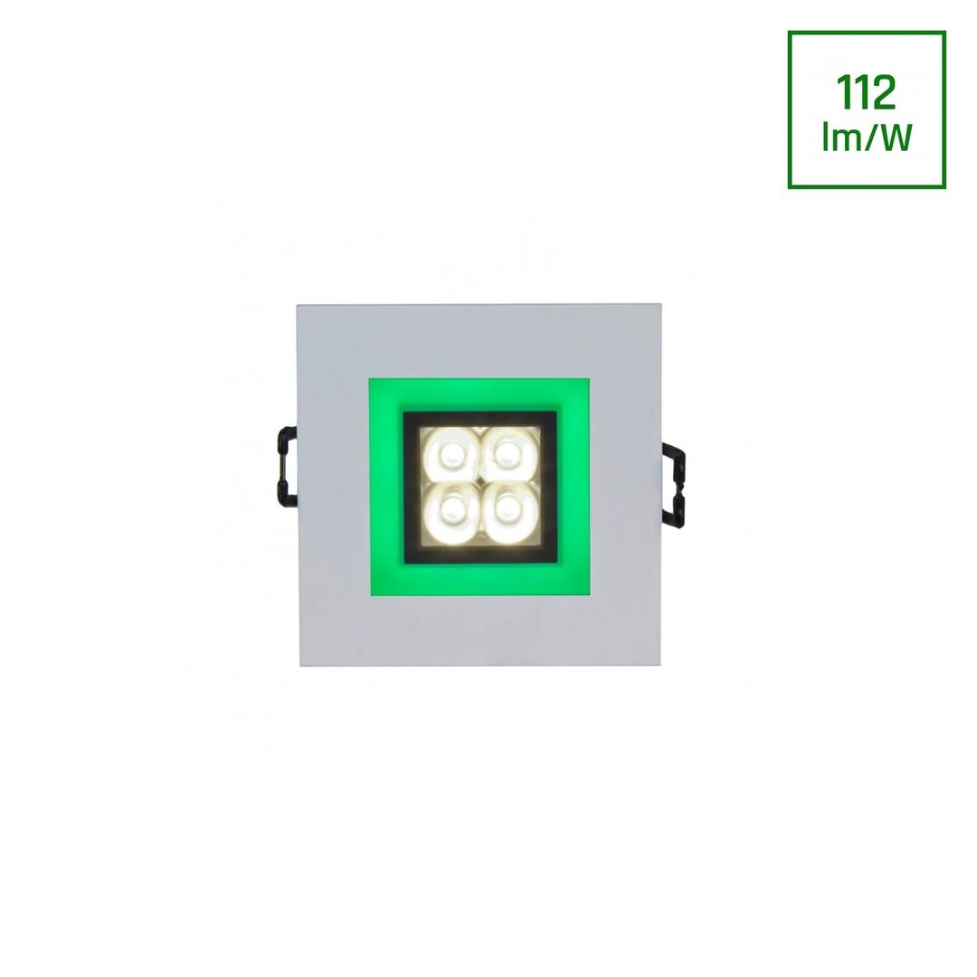 Fiale 4 LED 4 X1 W 30 St 230 V náměstí se zeleným rámem Ww LED