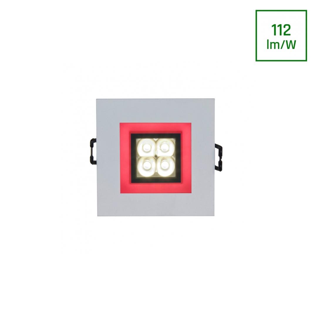 Vodiče 4 LED 4 X1 W 30 St 230 V čtverec s červeným rámečkem v LED očích
