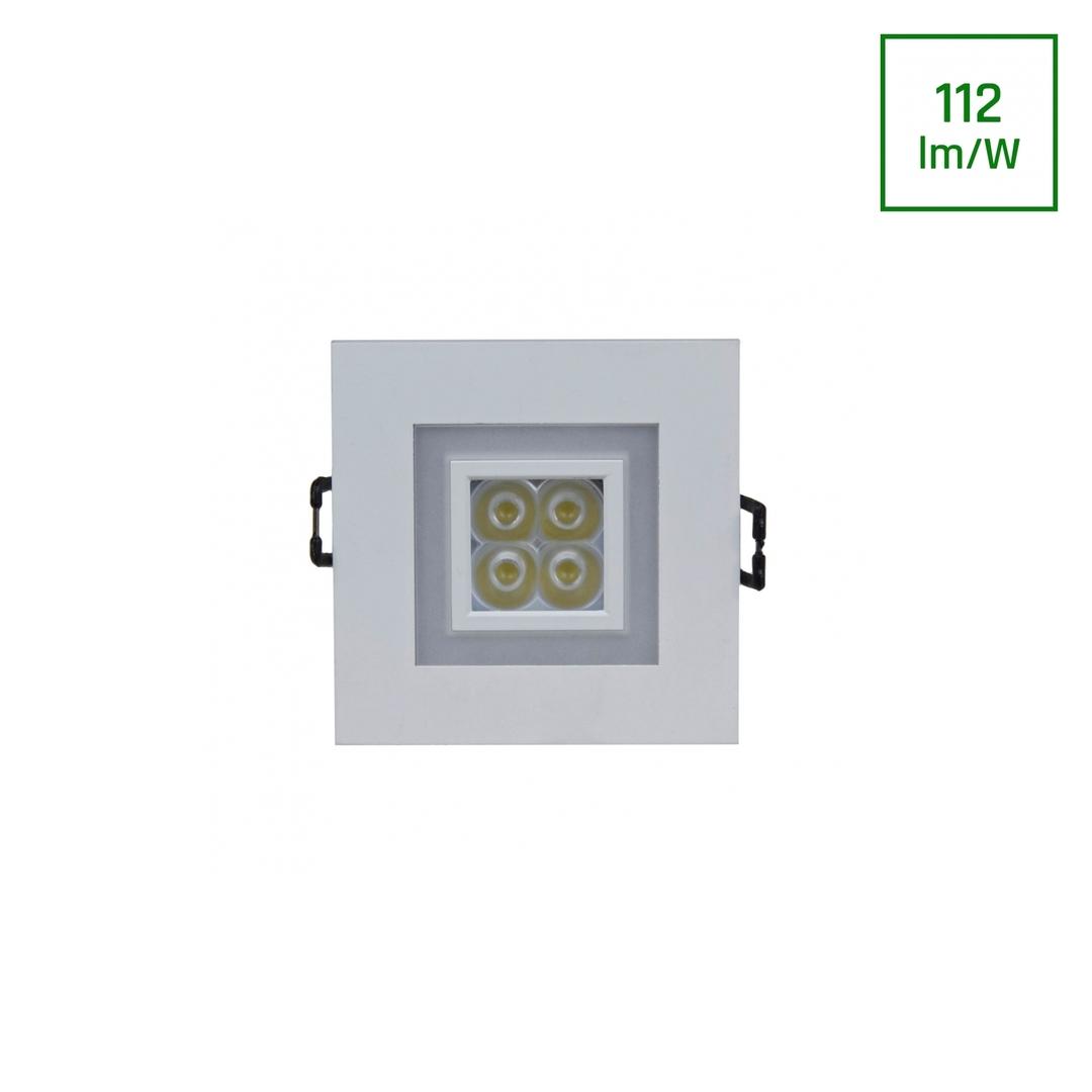 Fiale 4 LED 4 X1 W 30 St 230 V čtverec s teplým bílým rámem Ww LED oči