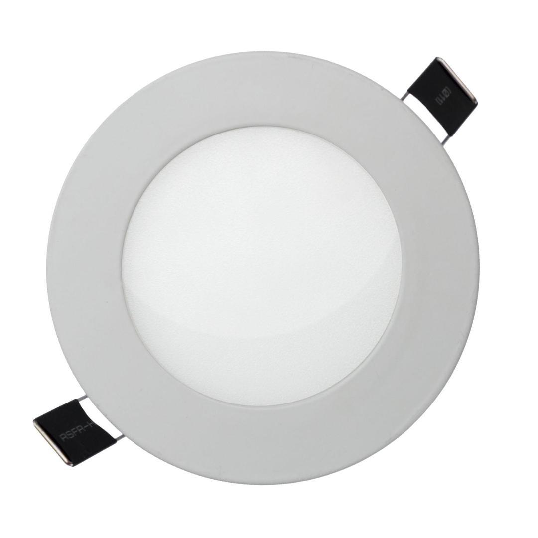 Algine Eco LED kulatý 230 V 12 W Ip20 Cw Stropní bílý zapuštěný rám