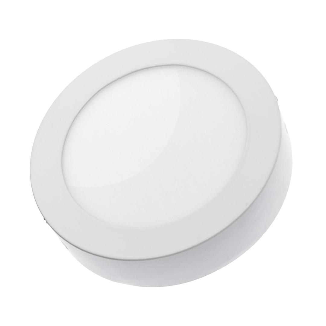 Algine Eco LED kulatý 230 V 12 W Ip20 Cw Stropní WHITE povrchový rám