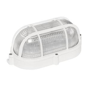 Technická lampa LED 9 W Ip65 230 V Nw ovál, prizmatický skleněný difuzor, hliníkový koš, kamenec small 0