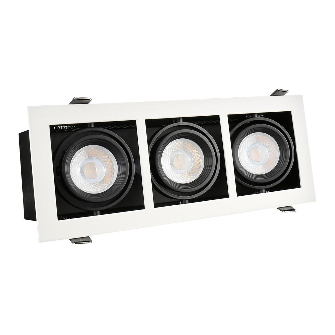 Moderní denní Mini Gu10 X3 bílý rámeček