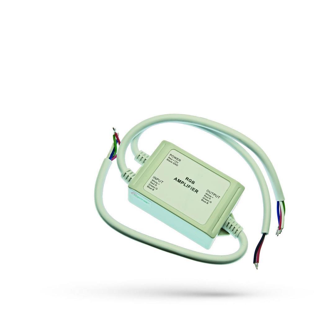 Rgb Repeater (zesilovač signálu) 12V 4 A / 1 Ch Vodotěsný Ip65 pro LED pásky / pro LED pásky
