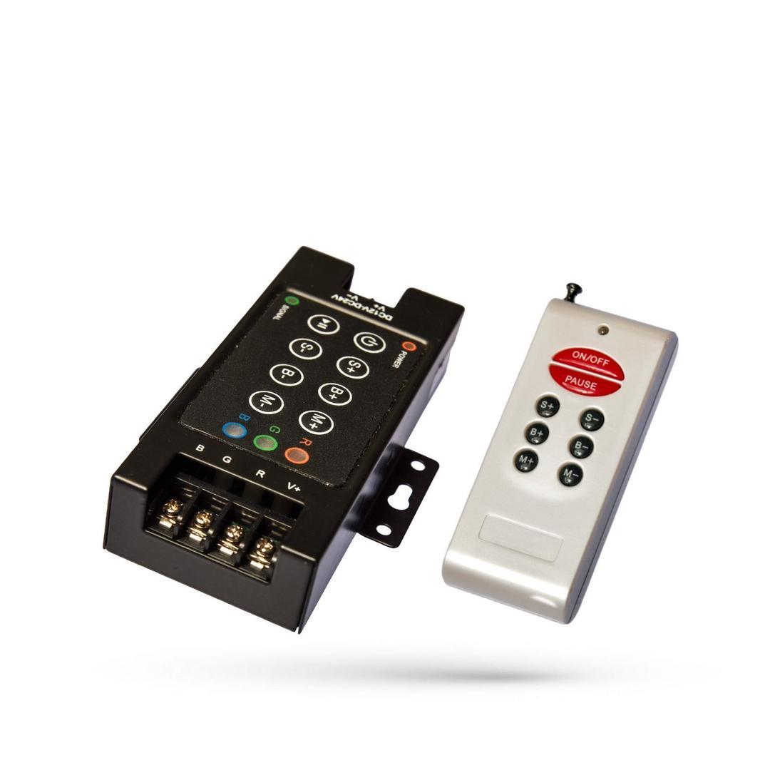 Rgb řadič Rf8 B s dálkovým ovládáním do Pasków LED / pro LED pásky
