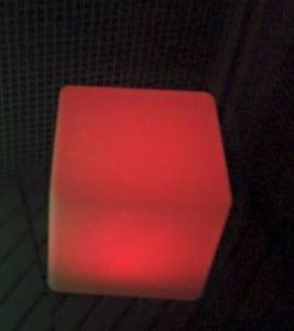 Vodotěsné solární LED Cube Garden Lamp small 7