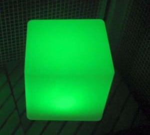 Vodotěsné solární LED Cube Garden Lamp small 5