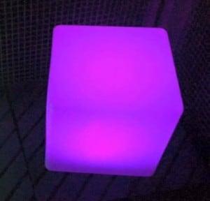 Vodotěsné solární LED Cube Garden Lamp small 4