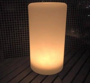 Vodotěsná sloupová solární LED lampa s vícebarevnou funkcí pro zahradu (45 cm) \ t small 1