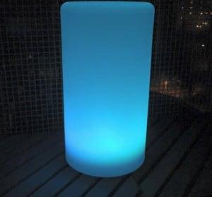 Vodotěsná sloupová solární LED lampa s vícebarevnou funkcí pro zahradu (45 cm) \ t small 5