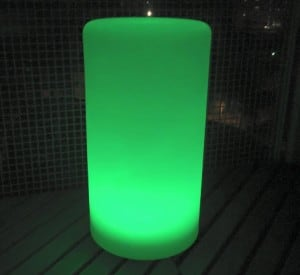 Vodotěsná sloupová solární LED lampa s vícebarevnou funkcí pro zahradu (45 cm) \ t small 6