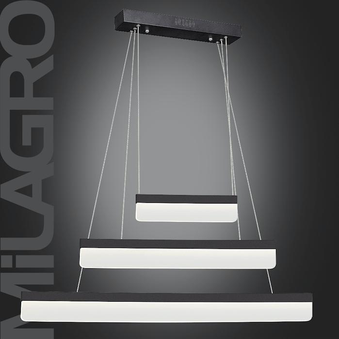 Moderní písková a černá závěsná lampa BEAM 403 LED 36W 2520 lm