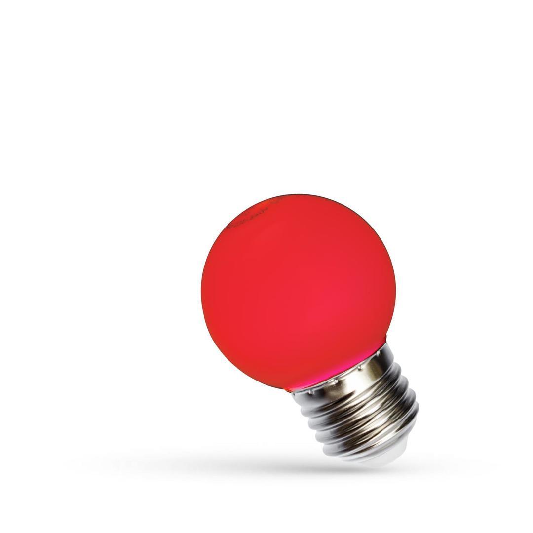 Led koule E27 230 V 1 W červené spektrum