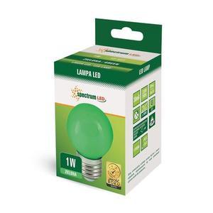 LED koule E27 230 V 1 W Zelené spektrum small 2