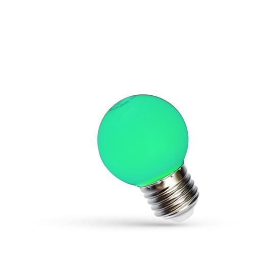LED koule E27 230 V 1 W Zelené spektrum