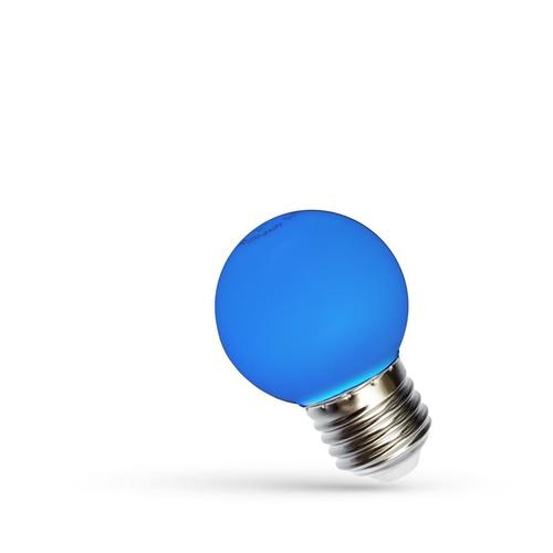LED koule E27 230 V 1 W Modré spektrum