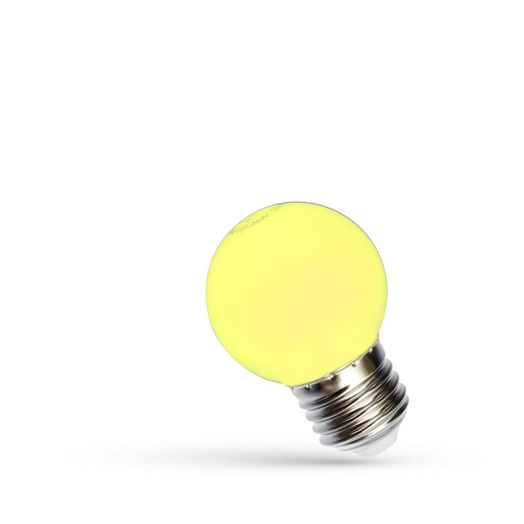 Led koule E27 230 V 1 W žluté spektrum