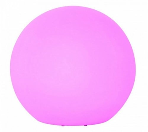 Velká barevná kulička měnící barvu s dálkovým ovládáním o průměru 77 cm, 1x3W LED RGB
