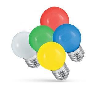 LED věnec žárovka 1W E27 studená bílá small 1
