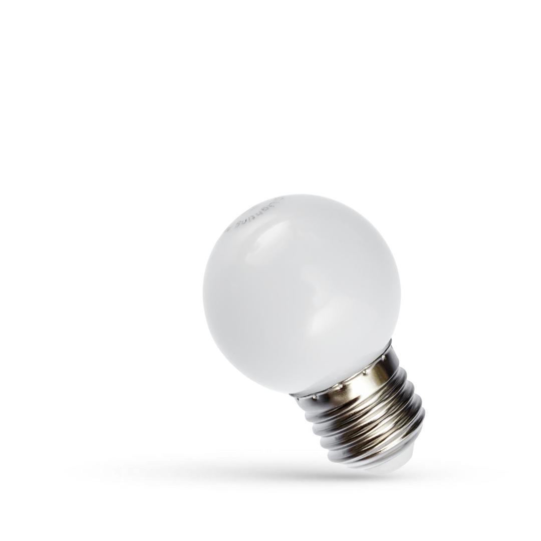 LED věnec žárovka 1W E27 studená bílá