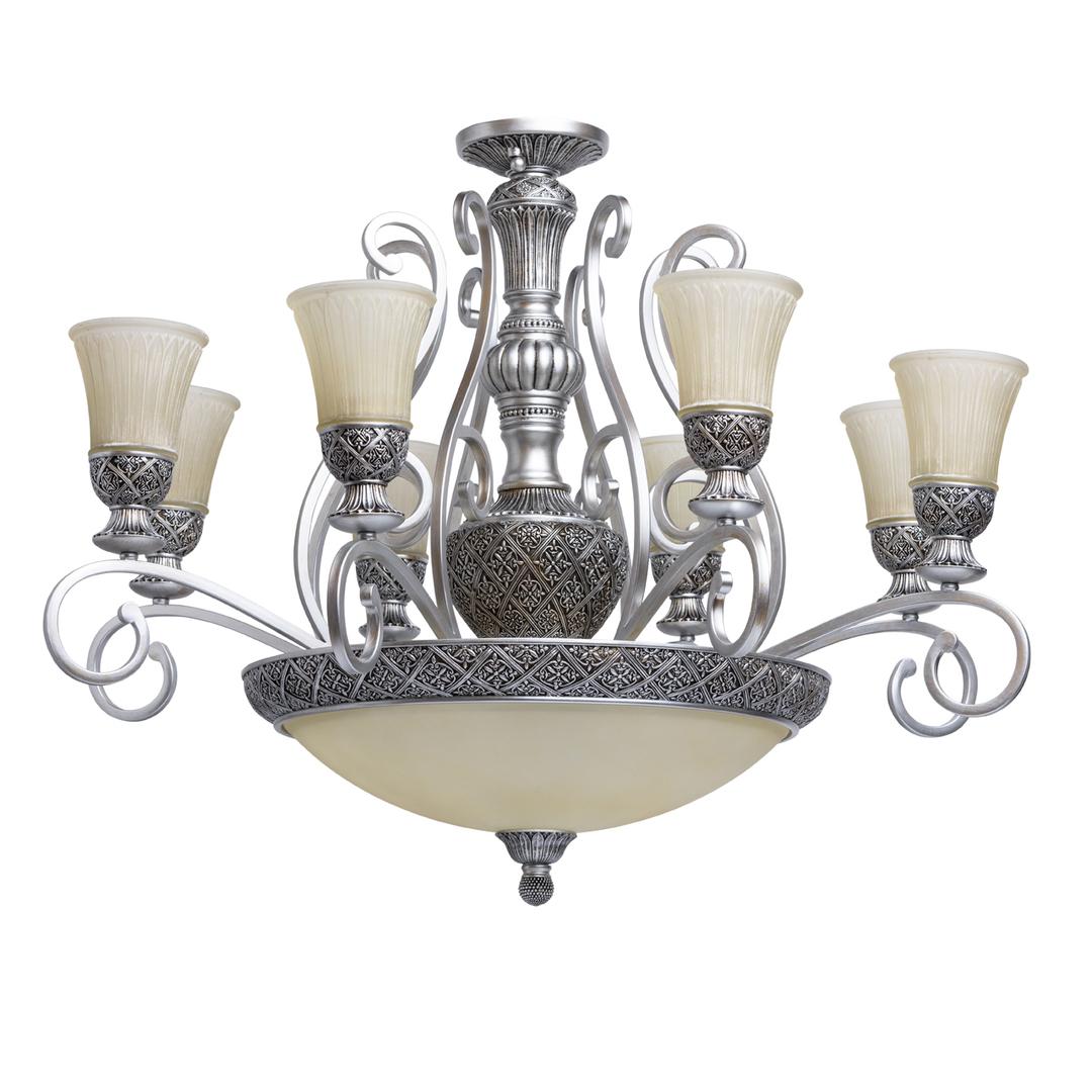 Závěsná lampa Bologna Country 11 Silver - 254011512
