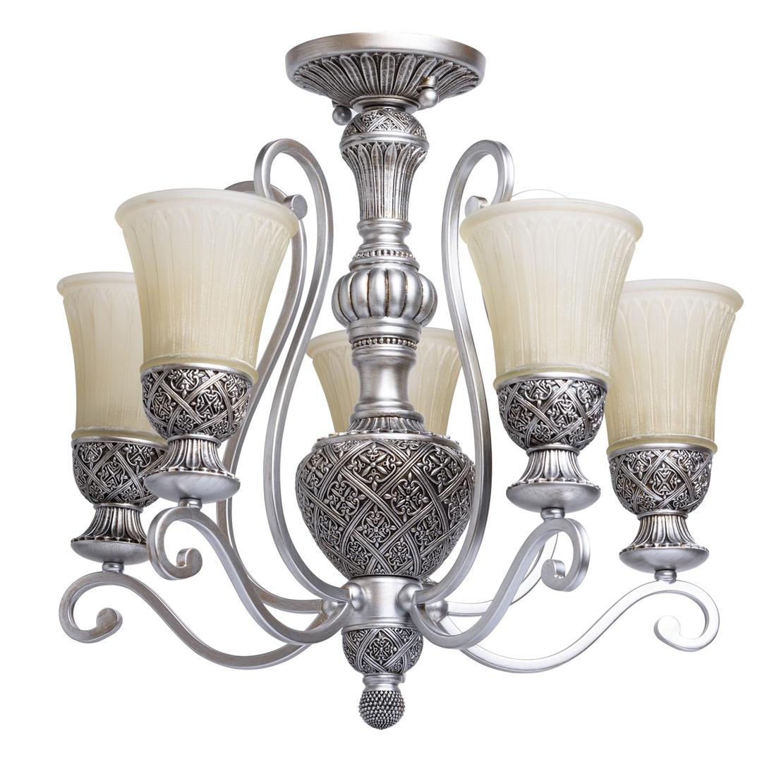 Závěsná lampa Bologna Country 5 Silver - 254013605