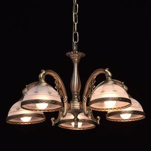 Závěsná lampa Amanda Classic 5 Mosaz - 295011005 small 2