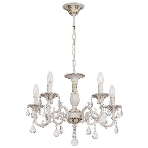 Lustrová svíčka Classic 5 bílá - 301014605