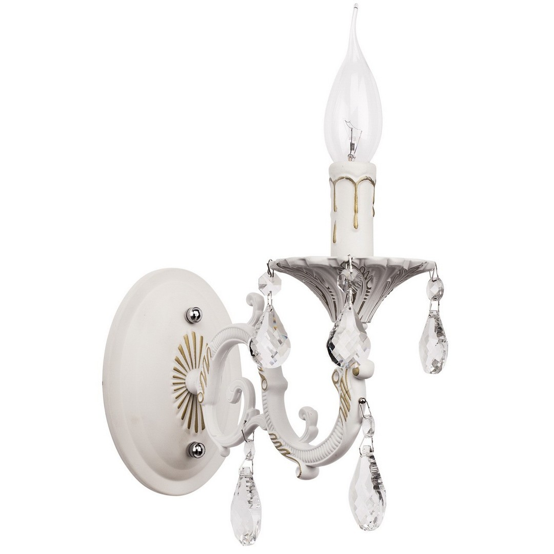 Nástěnná lampa Svíčka Classic 1 bílá - 301024501