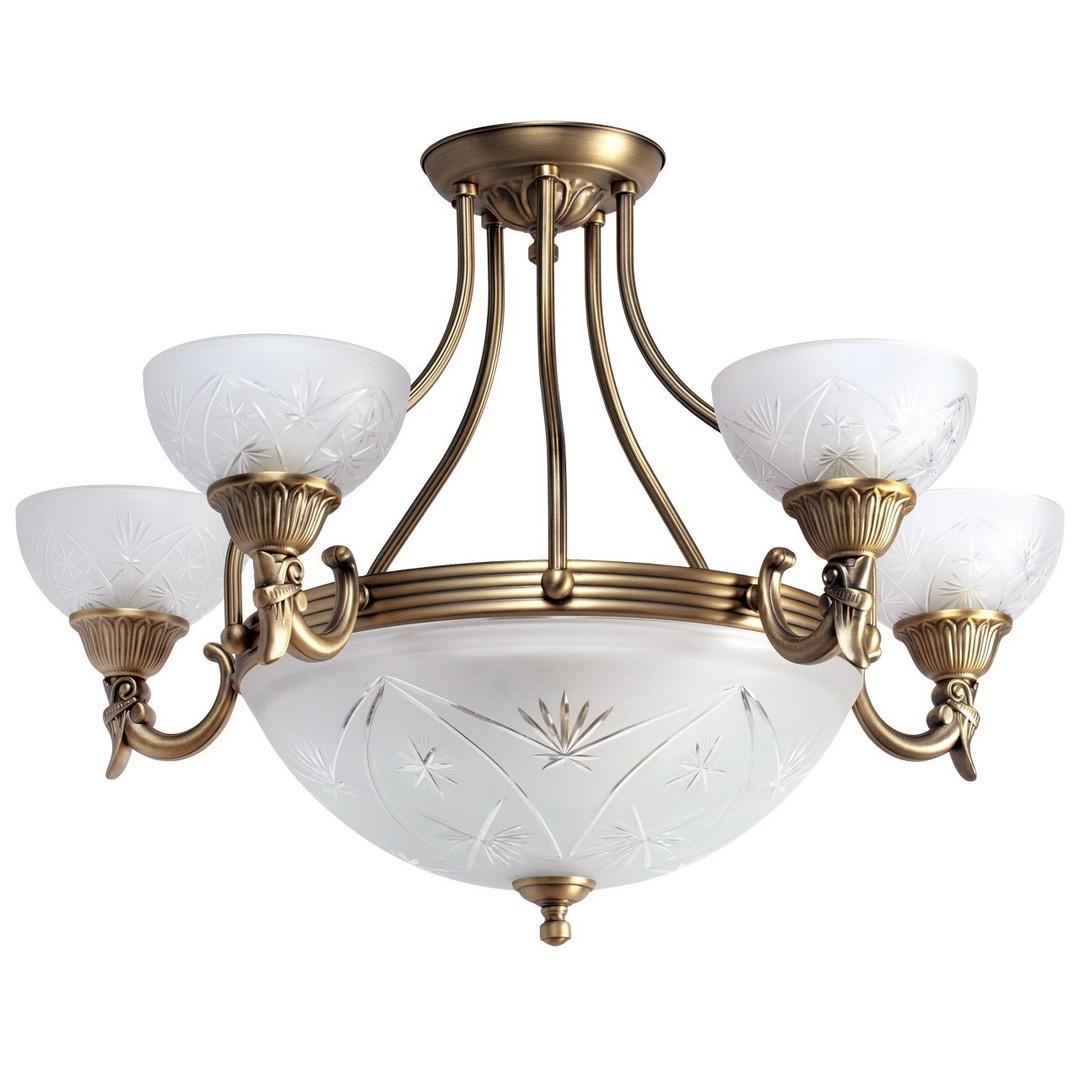 Závěsná lampa Aphrodite Classic 5 Mosaz - 317013308