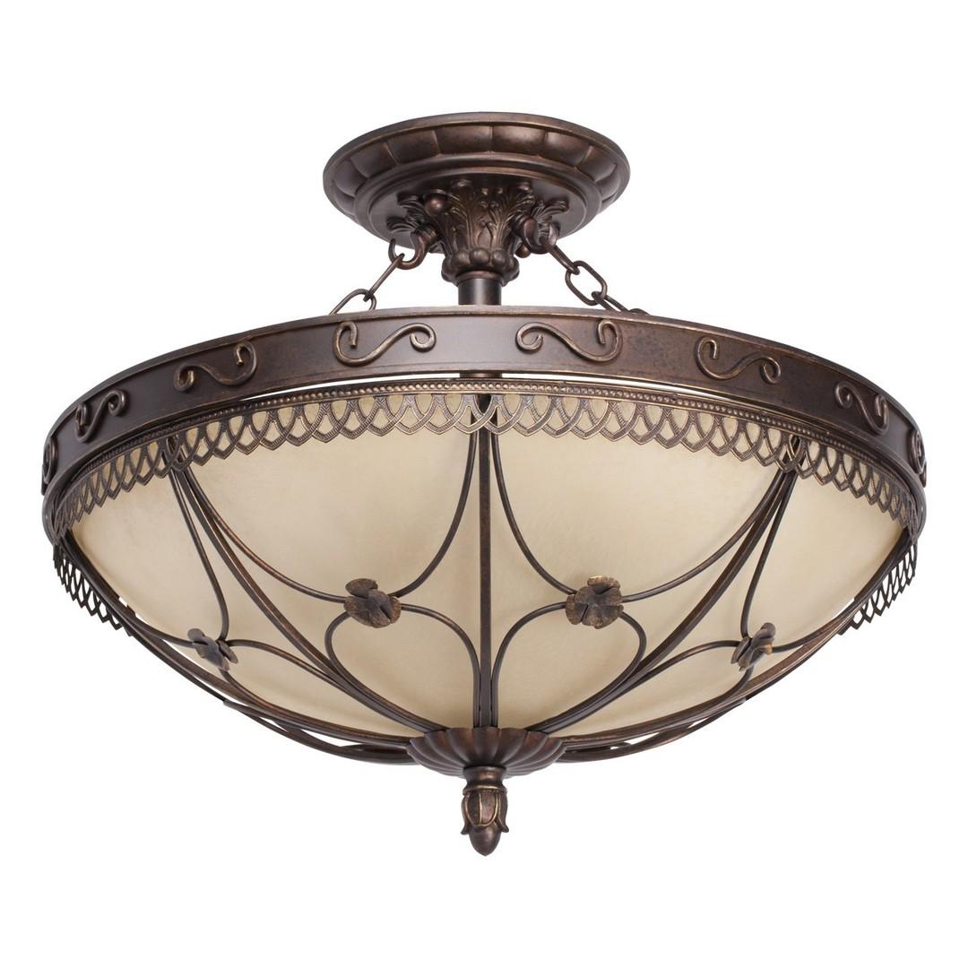 Závěsná lampa Magdalena Země 5 Hnědá - 382018205