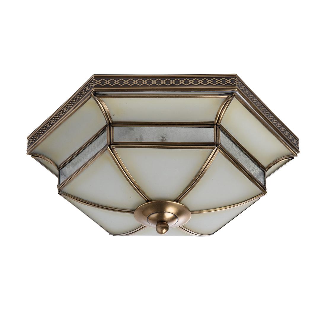 Závěsná lampa Marquis Country 3 Mosaz - 397010103