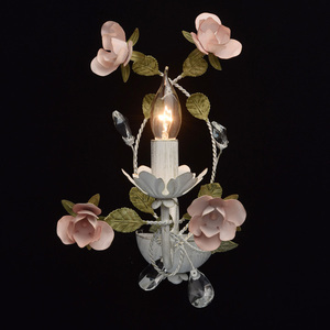 Nástěnná lampa Provence Flora 1 bílá - 421022801 small 2