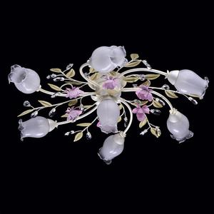 Závěsná lampa Provence Flora 7 bílá - 422010607 small 1