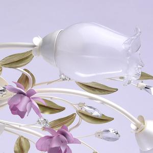 Závěsná lampa Provence Flora 7 bílá - 422010607 small 4